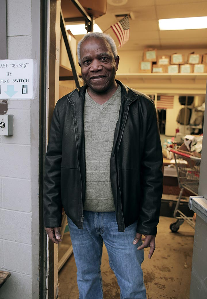 Ron volunteering at UGM donation drop-off.