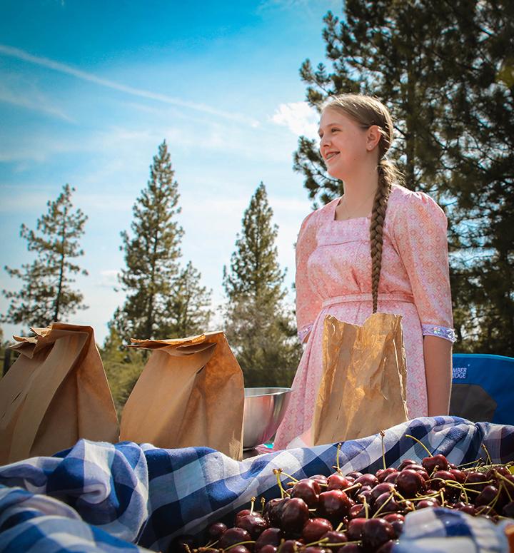 Irina selling cherries