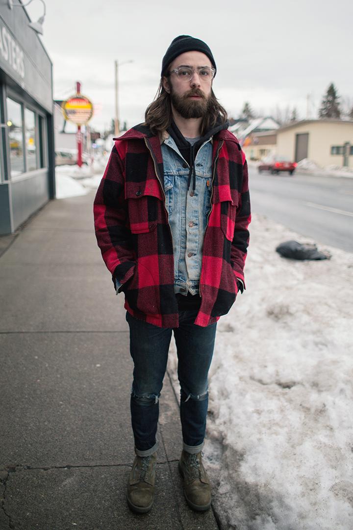 Jesse standing on Monroe street