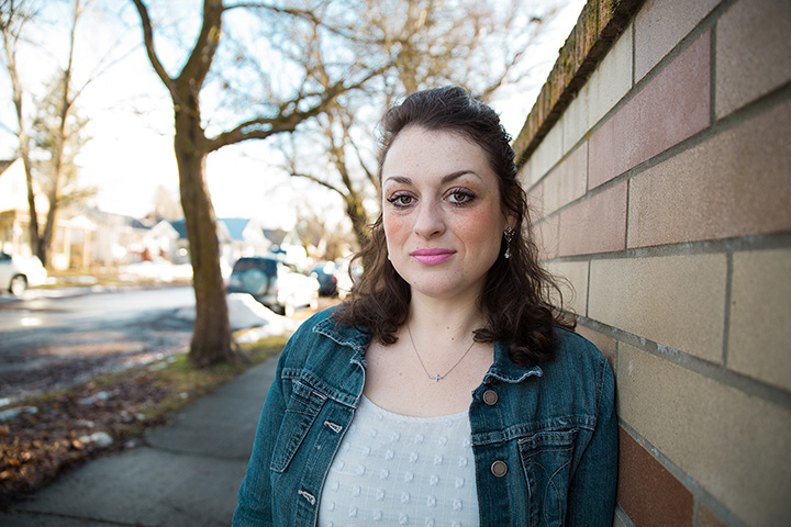 Heather on street in West Central Spokane
