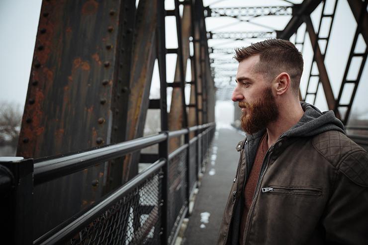 Adam on the Iron Bridge