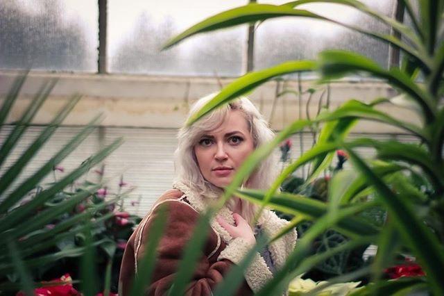 Heidi in greenhouse